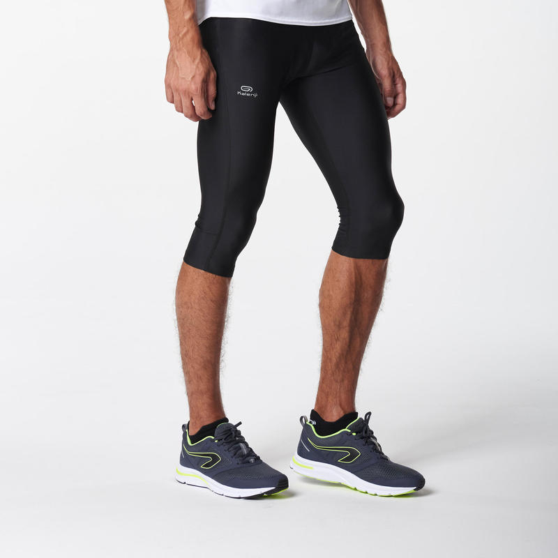 RUN DRY MEN'S RUNNING CROPPED PANTS BLACK