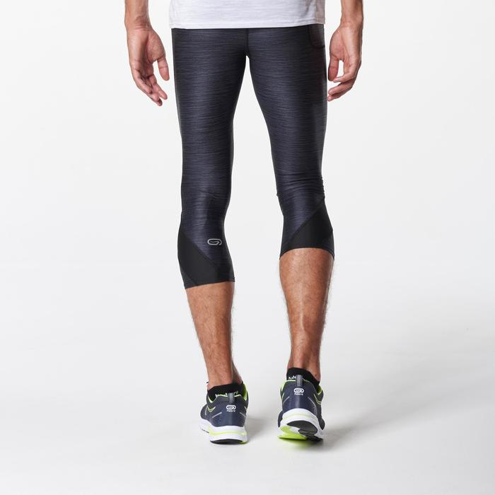 男款跑步七分褲RUN DRY+黑色