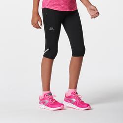 Atletiek kuitbroek voor kinderen Run Dry zwart