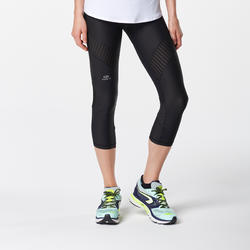 Kalenji Kiprun Support Women's Running Cropped Bottoms - Black
