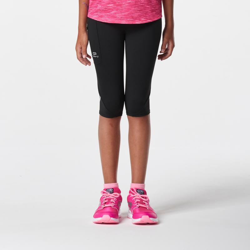 Calza 3/4 de Atletismo niños run dry negro
