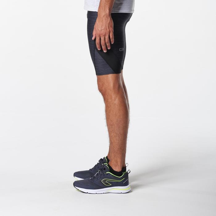 Korte hardloopbroek heren Run Dry+ grijs