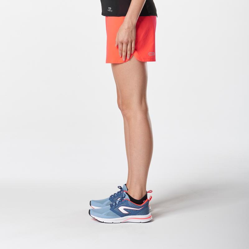 RUN DRY WOMEN'S RUNNING SHORTS - CORAL