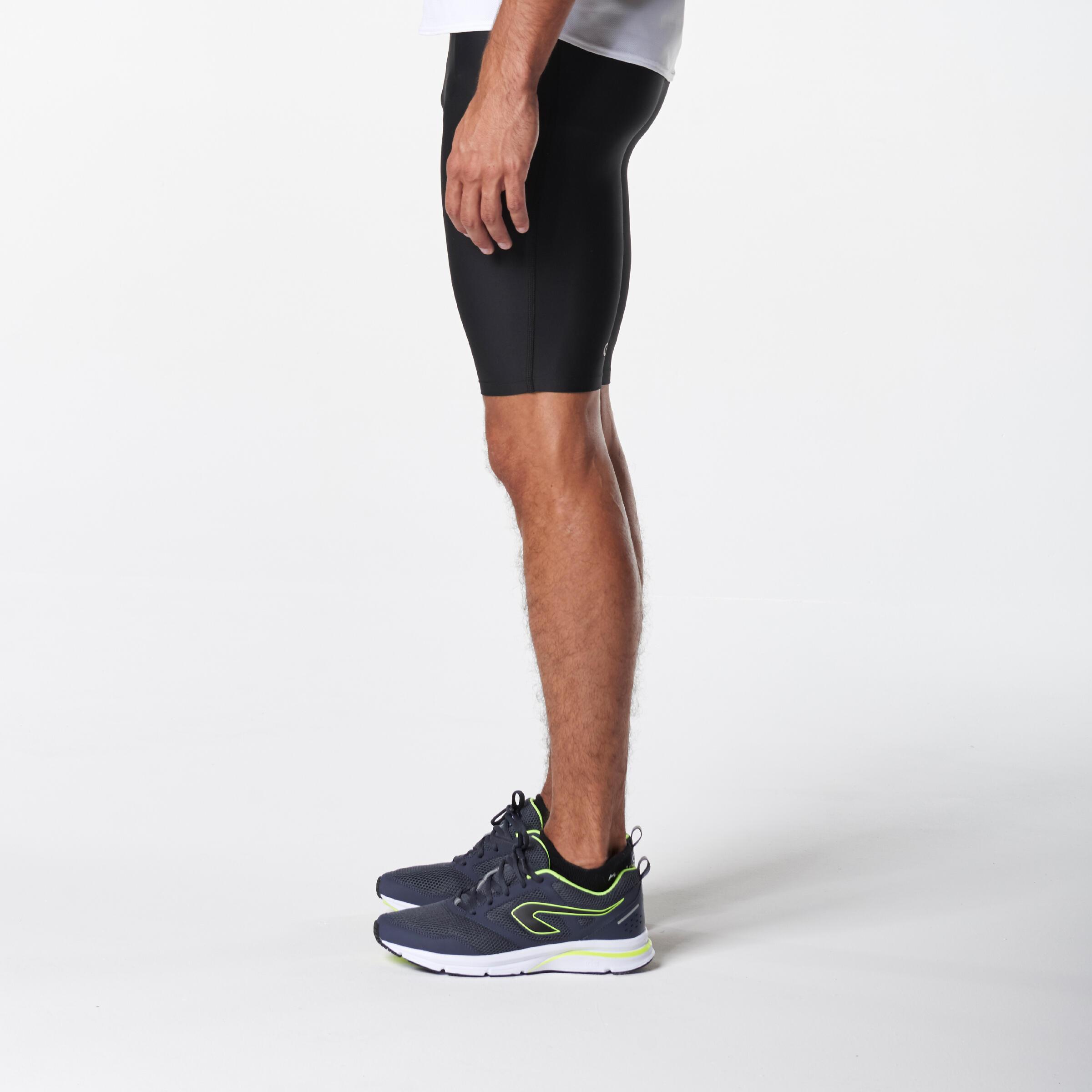 RUN DRY+ MEN'S RUNNING TIGHT SHORTS BLACK
