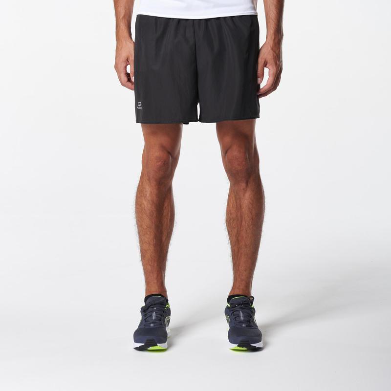 RUN DRY MEN'S RUNNING SHORTS BLACK