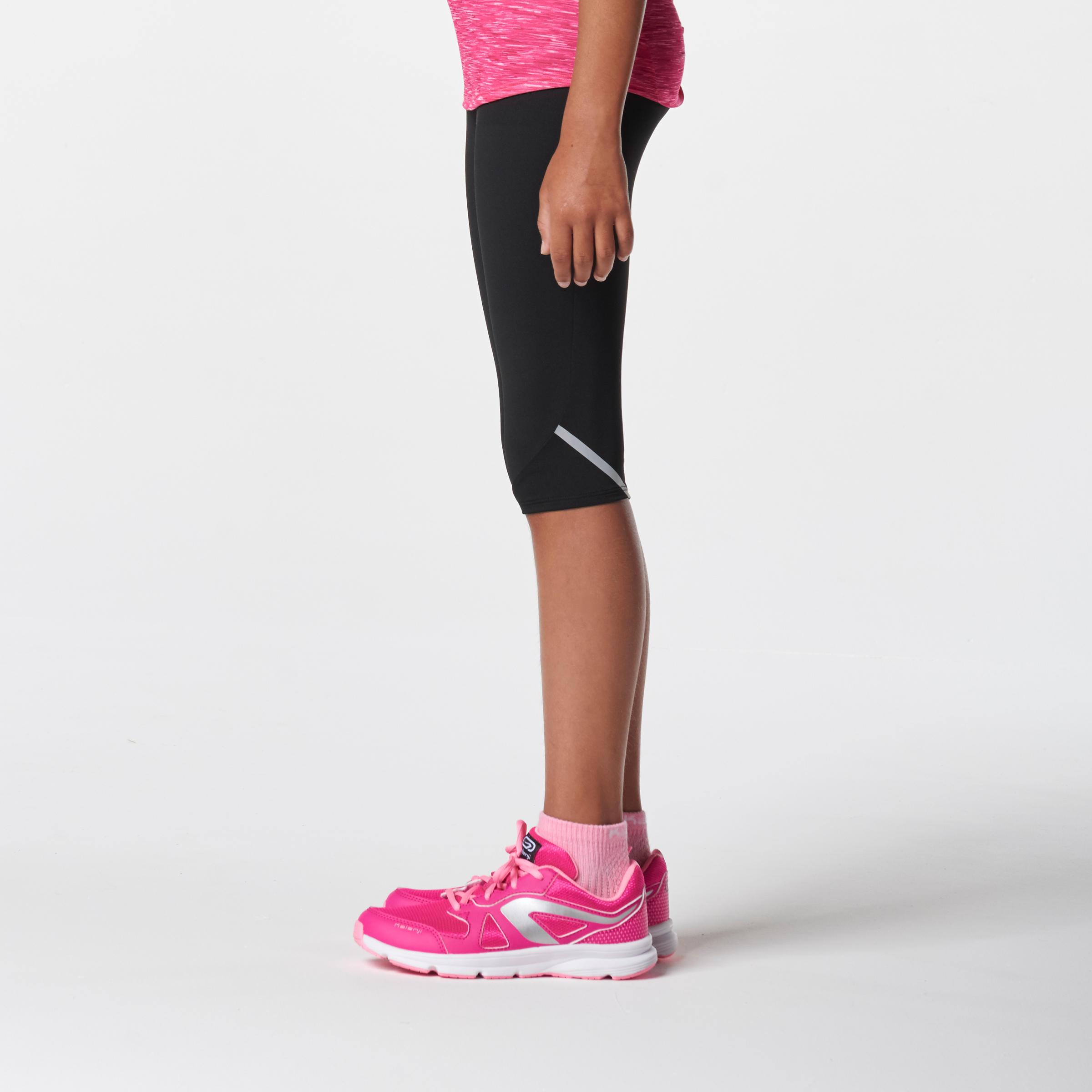 Run Dry Kids' Cropped Trousers - Black