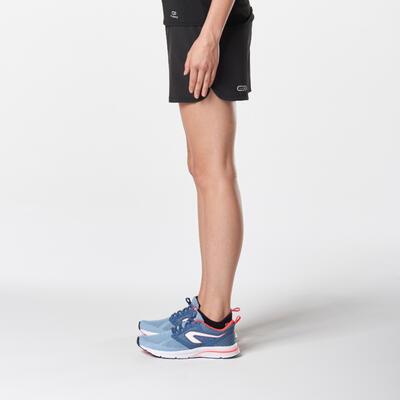 מכנסי ריצה קצרים RUN DRY לנשים - שחור
