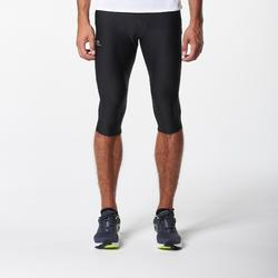 MALLAS PIRATAS LEGGINGS DEPORTIVOS RUNNING KALENJI RUN DRY HOMBRE NEGRO