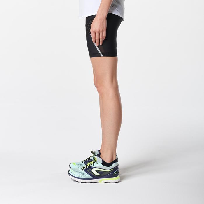 Mallas Cortas Shorts Deportivos Running Kalenji Kiprun Support Mujer Negro