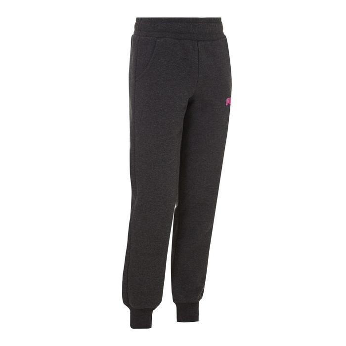 Pantalon Fitness fille gris - 1073467