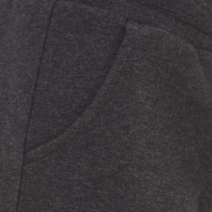 Pantalon Fitness fille gris - 1073481