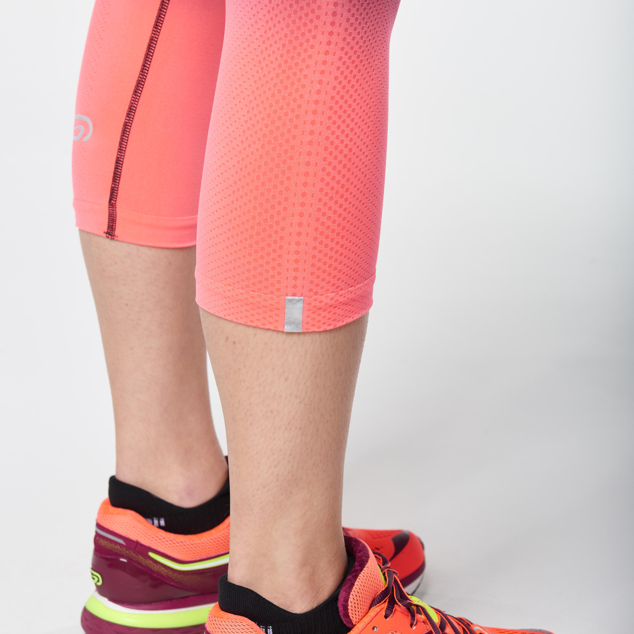 Kalenji Kiprun Care Women's Running Cropped Bottoms - Coral