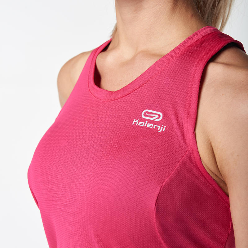 RUN DRY WOMEN'S RUNNING TANK TOP - PINK