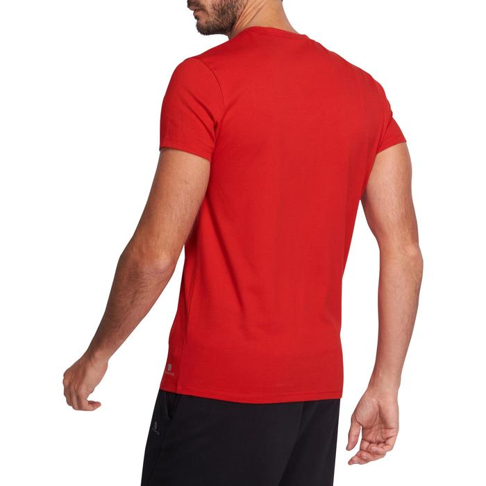 T-shirt 500 col V slim Gym Stretching homme - 1073964