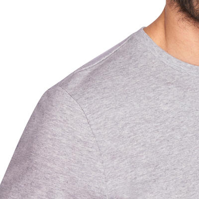 100 Long-Sleeved Gym & Pilates T-Shirt - Grey