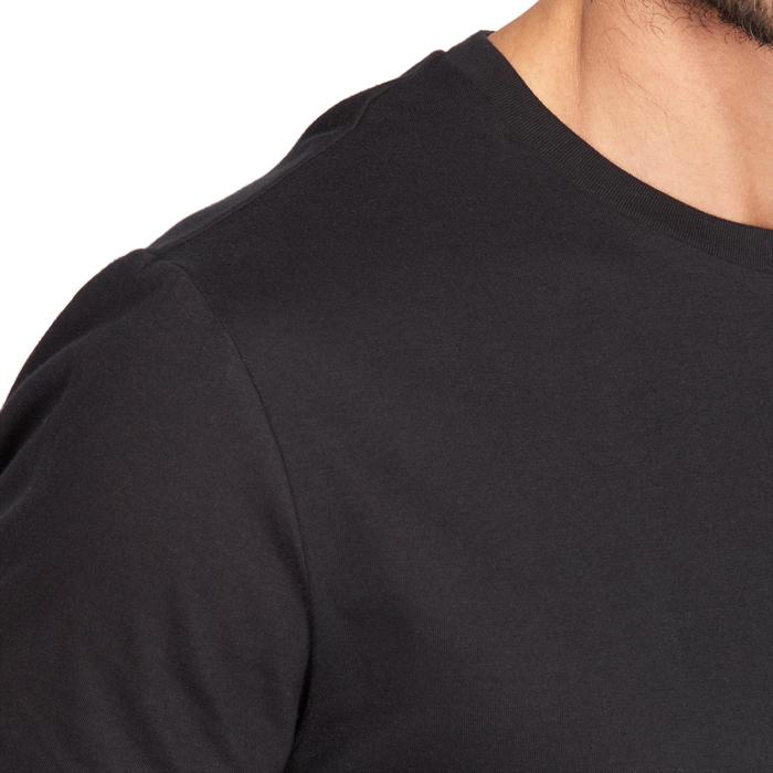 T-Shirt Sportee 100 regular 100% katoen gym stretching zwart heren