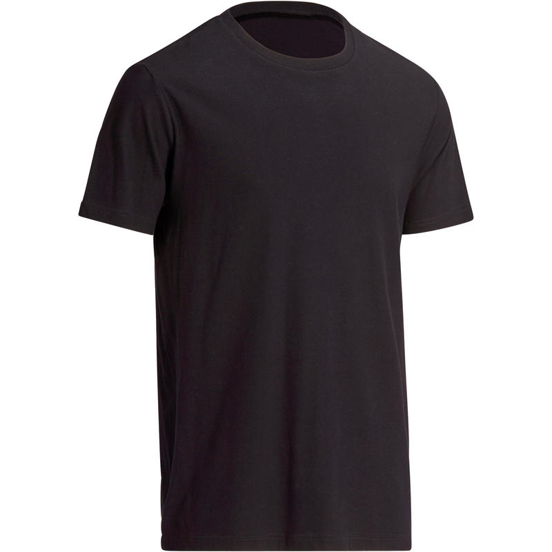 100 Regular-Fit Pilates & Gentle Gym Sport T-Shirt - Black - Men's