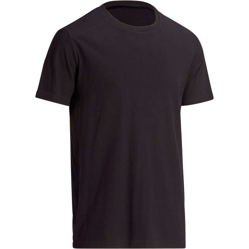 MAN GYM, PILATES APPAREL Clothing - Men's Gym T-Shirt 100 - Black NYAMBA - Tops