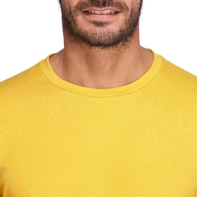 Regular-Fit Gym & Pilates T-Shirt - Mustard Yellow