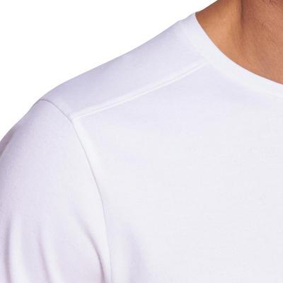 T-shirt homme 500 blanc regular col rond