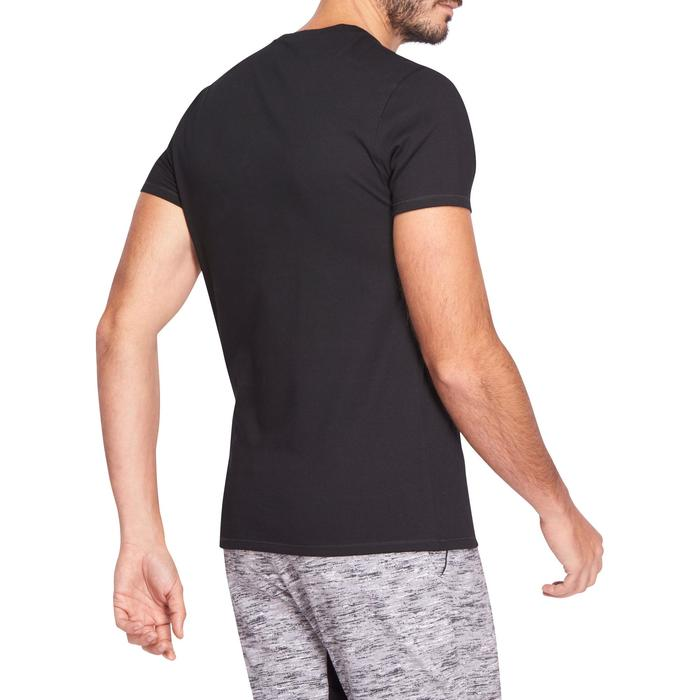 T-shirt 500 col V slim Gym Stretching homme - 1074022