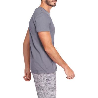 T-Shirt Gym & Pilates homme gris foncé Sportee