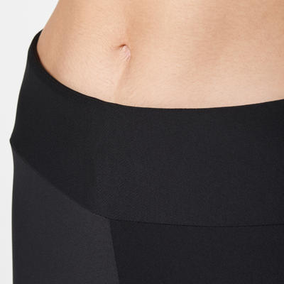 Run Dry Women's Running Cropped Bottoms - Black