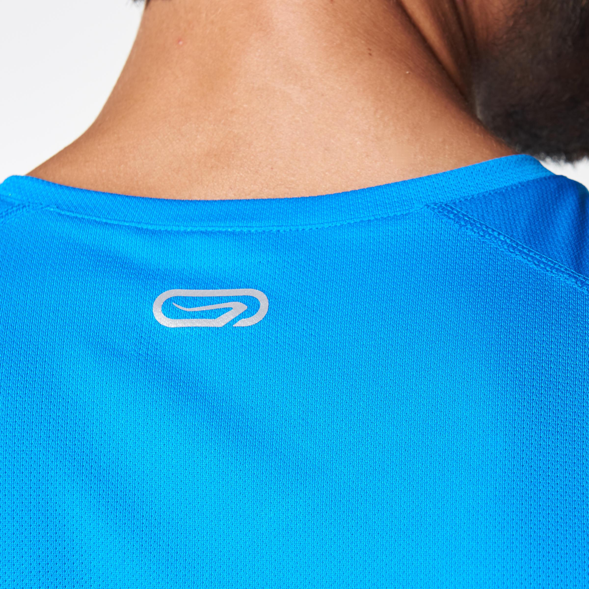 RUN DRY MEN'S RUNNING T-SHIRT BLUE