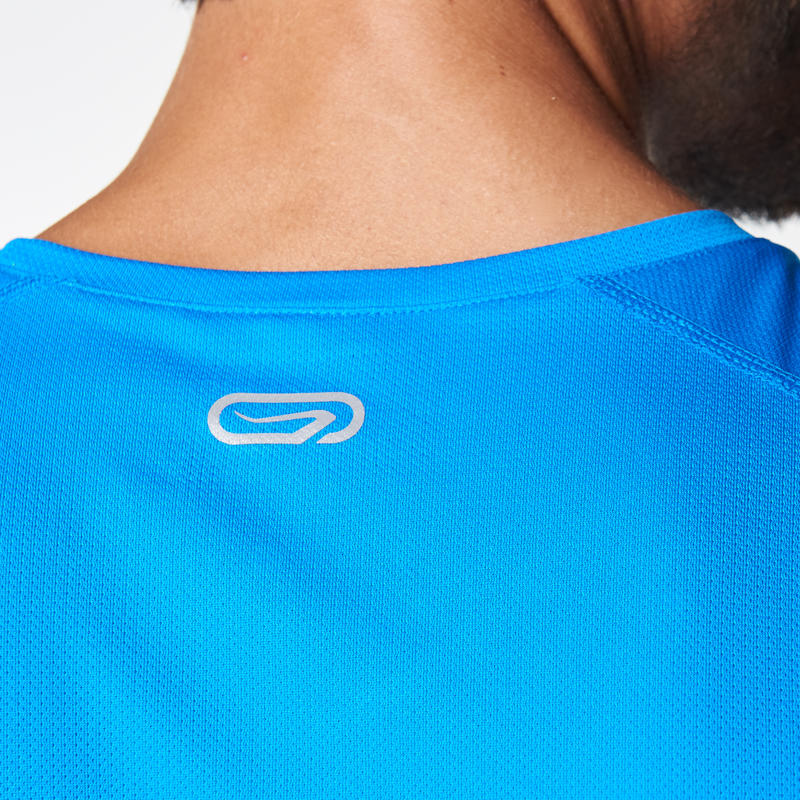 RUN DRY MEN'S RUNNING T-SHIRT BLUE