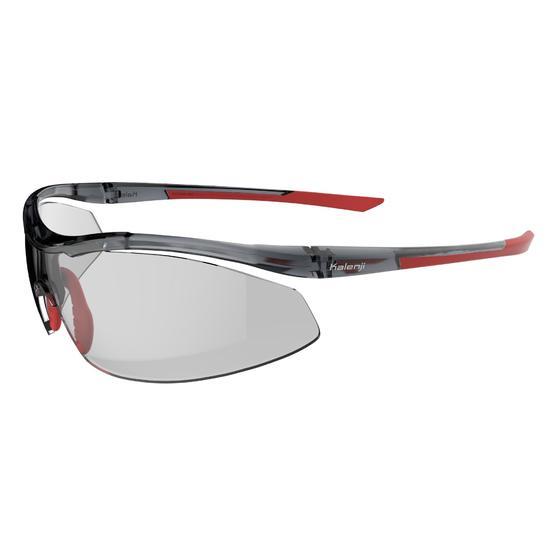 Hardloopbril voor volwassenen Running 600 rood/grijs meekleurend cat. 1 tot 3 - 1074226