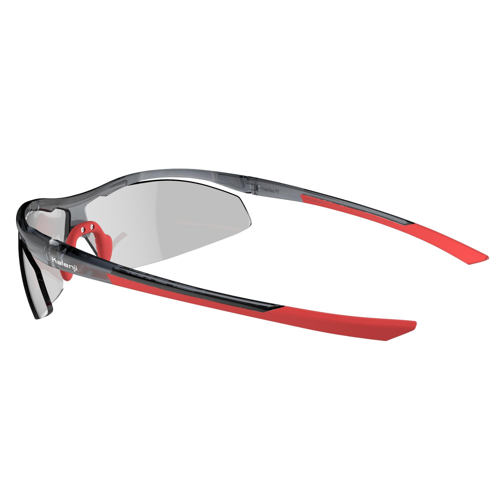 Running 600 Adult Running Photochromic Sunglasses Cat 1 to 3 - Red and Grey