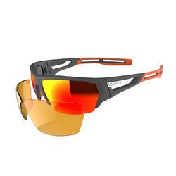 Hardloopbril Running 700 Pack grijs - 2 verwisselbare glazen
