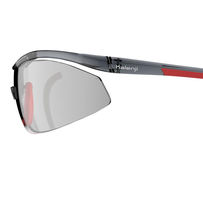 5de09e1ac86 ... Running 600 Adult Running Photochromic Sunglasses Cat 1 to 3 - Red and  Grey ...