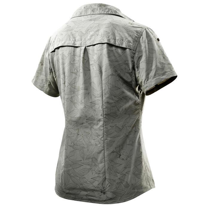 Chemise manches courtes trekking Arpenaz 500 femme beige imprimé - 1074622
