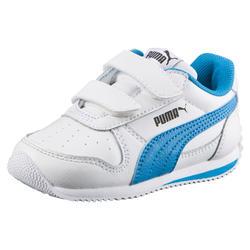 Babyschoentjes Fieldsprint voor jongens wit/blauw