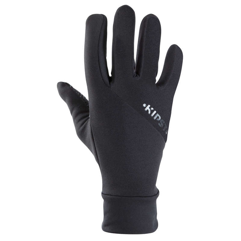 UNDERWEAR TEAM SPORT SENIOR Football - Keepwarm Adult Football Player Gloves - Black KIPSTA - Football Clothing
