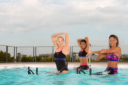 Chloorbestendige zwemshort Anna voor aquabike - 1074681