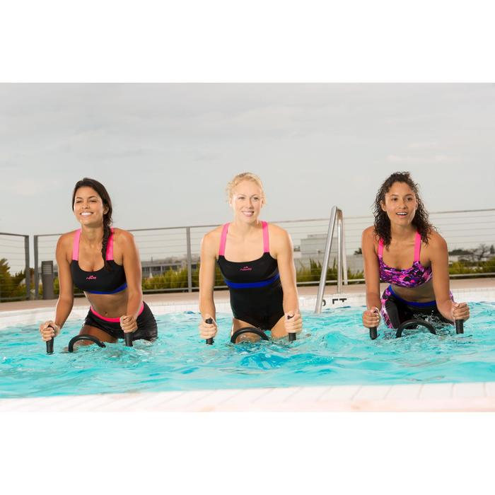Bañador una pieza mujer aquabike resistente al cloro Anna negro rosa