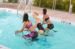 Chloorbestendig damesbadpak Anna voor aquabike - 1074704