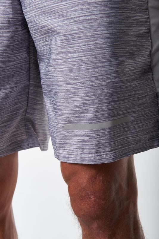 RUN DRY+ MEN'S SHORTS - MOTTLED GREY
