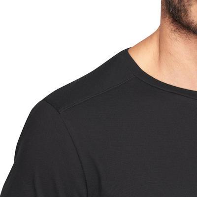 חולצה לחדר כושר ופילאטיס Regular-Fit - שחור.