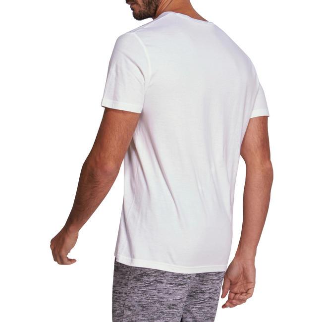 Men's Gym T-Shirt Regular Fit Sportee 100 - White