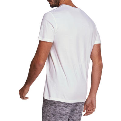 Fitness Pure Cotton T-Shirt Sportee - White