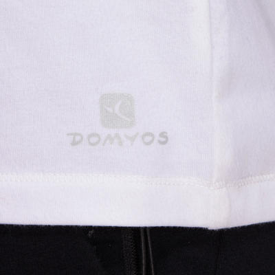 Camiseta de manga corta regular fitness hombre Active blanco