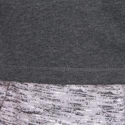 T-shirt500 régulier pilates et gym douce homme gris foncé