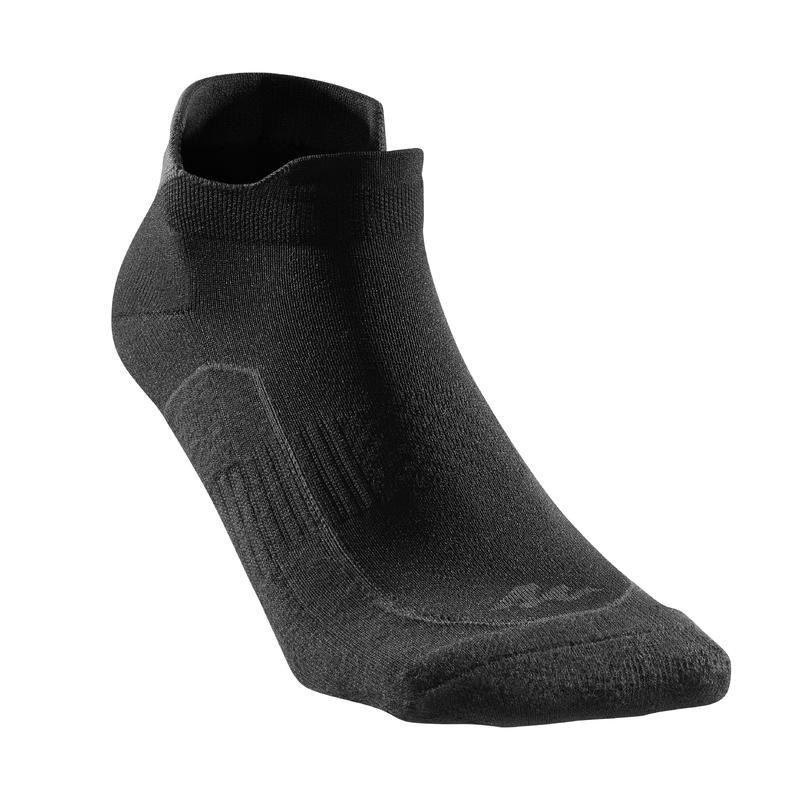 Calcetines cortos de senderismo en la naturaleza. 2 pares Arpenaz 100 negro