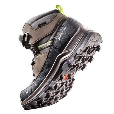 Chaussures de randonnée enfant MH500 montantes imperméables marron