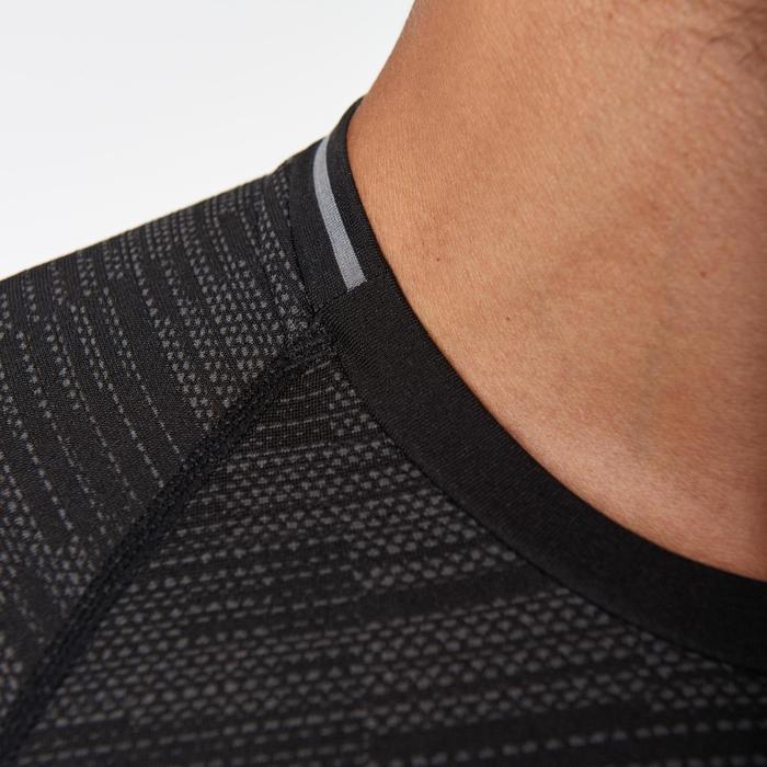 Hardloopshirt voor heren Kiprun Skincare zwart