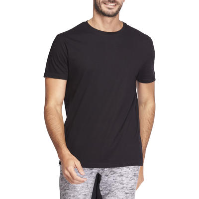Men's 100% Cotton T-Shirt Sportee - Black