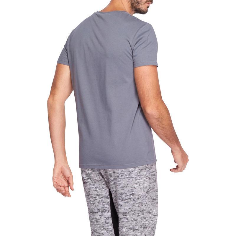 Camiseta de Pilates e Ginástica Masculina Sportee Domyos  8ba7a7f3ae0